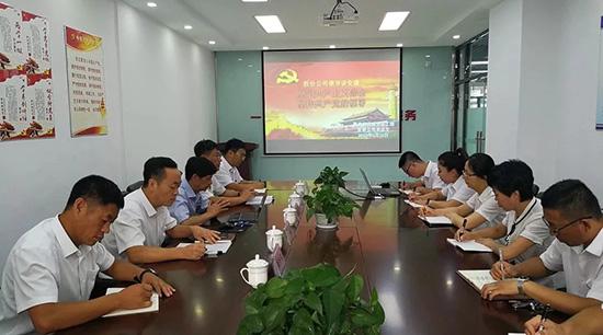 坚定共产主义信念,坚持共产党的领导—王征宇同志为公司全体党员讲党课